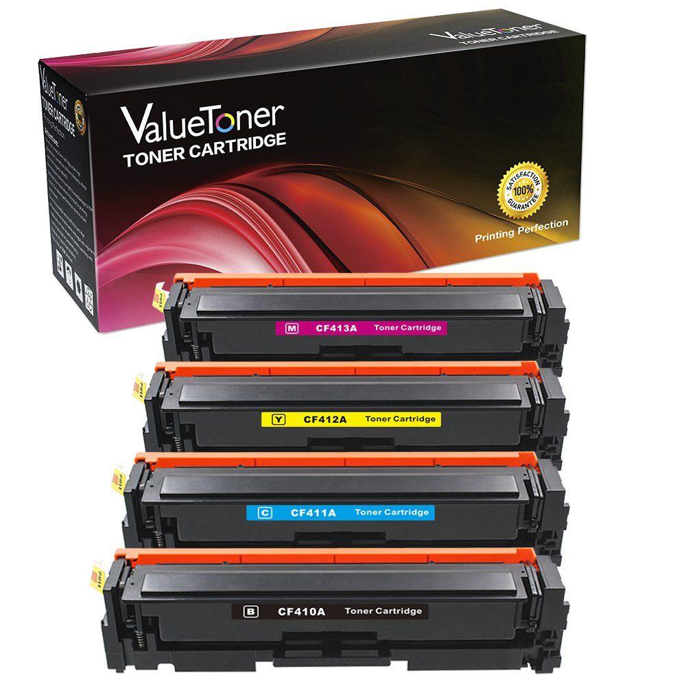 Valuetoner Compatible For Hp 410a Cf410a Cf411a Cf412a Cf413a Toner Cartridge For Hp Color Laserjet Pro Mfp M Toner Cartridge Cartridges Electronic Accessories