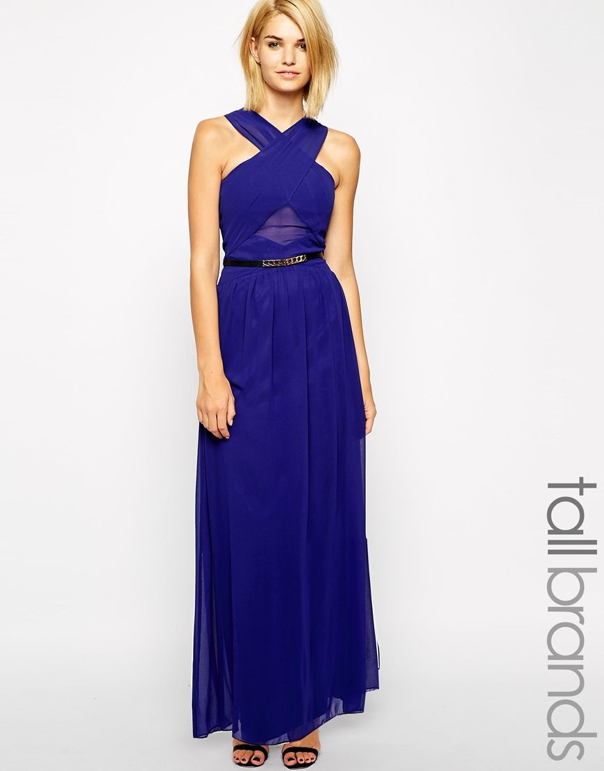 Image 1 of Little Mistress Tall Wrap Detail Maxi | Bridesmaids ...