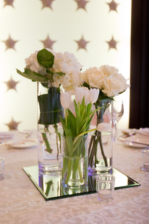 More Flowers On A Square Mirror Vase Centerpieces Farmhouse Vases Amazing Weddings