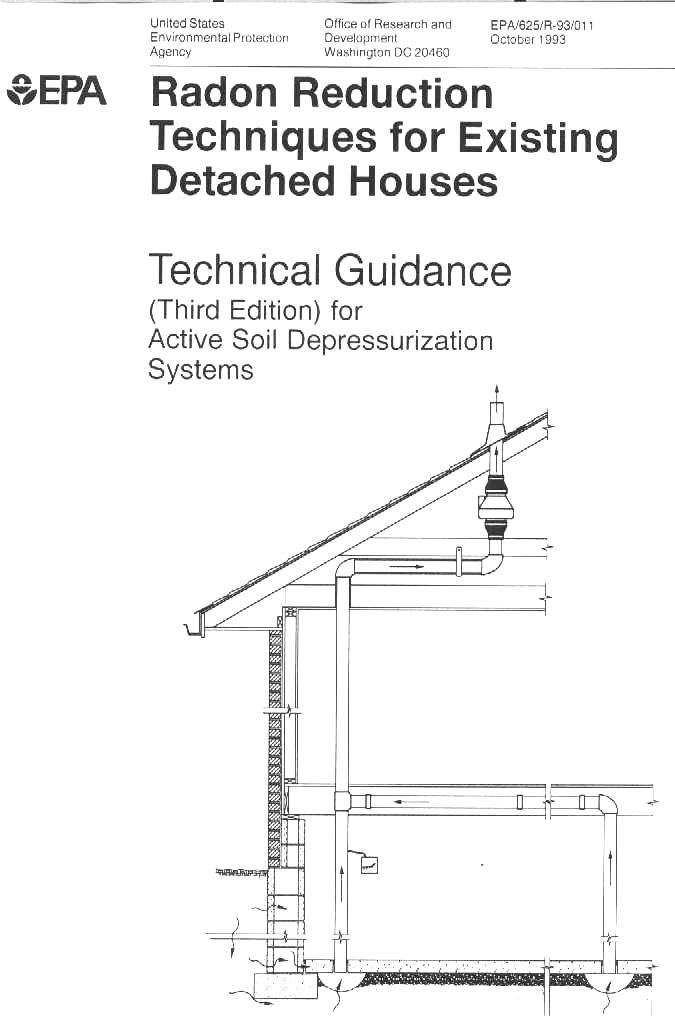 Radon Gas Mitigation System Drawings Scanned From Epa 180 S