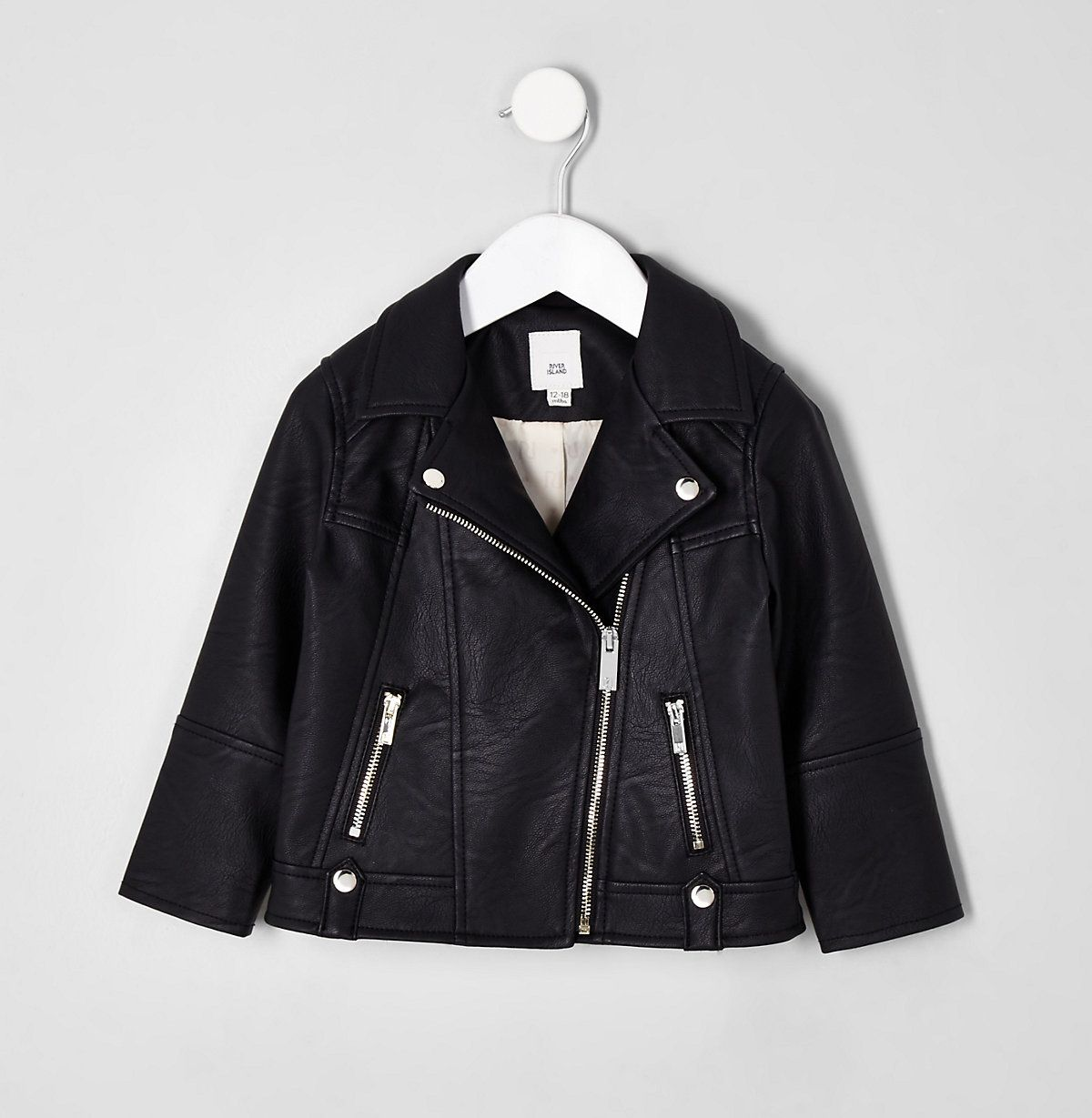 Mini Girls Black Faux Leather Biker Jacket Baby Girls Coats Jackets Mini Girls Girls Baby Leather Jacket Baby Coats Girl Pu Biker Jacket [ 1229 x 1200 Pixel ]