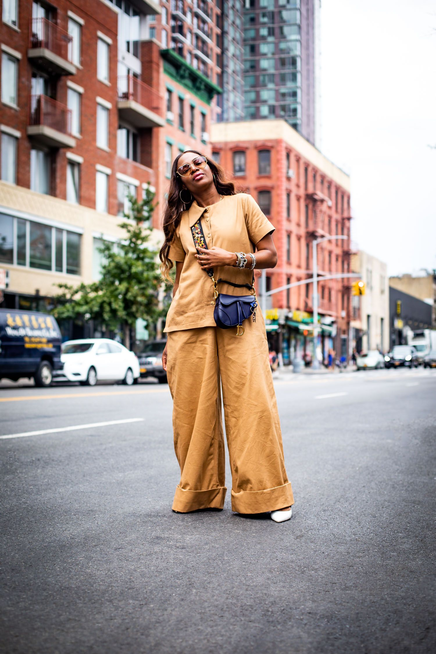 eb1b0e16502 3 tips on how to look chic in a utility jumpsuit. Atlanta fashion and  lifestyle blogger Monica Awe-Etuk wearing utility jumpsuit by FIA Factory