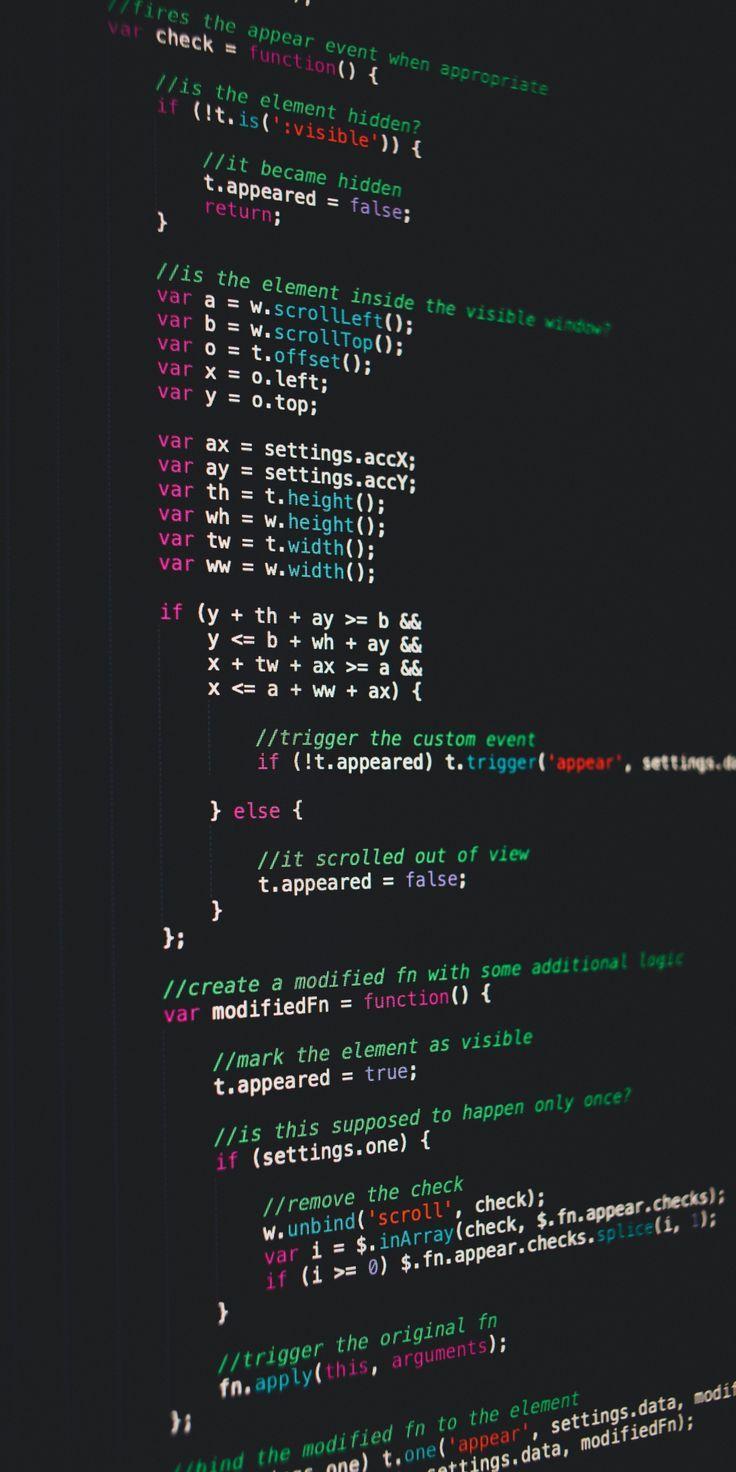 Computer Screen Code Program Wallpaper 1080x2160 Programacao De Computadores Linguagem De Programacao Papel De Parede Wallpaper