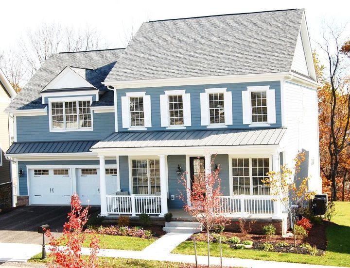 Beautiful Boothbay Blue Cement Board Siding By James