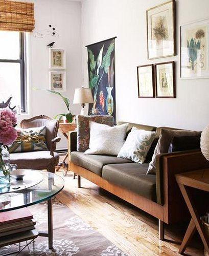 Hallie Burton Eclectic Rustic Vintage Modern Living Room