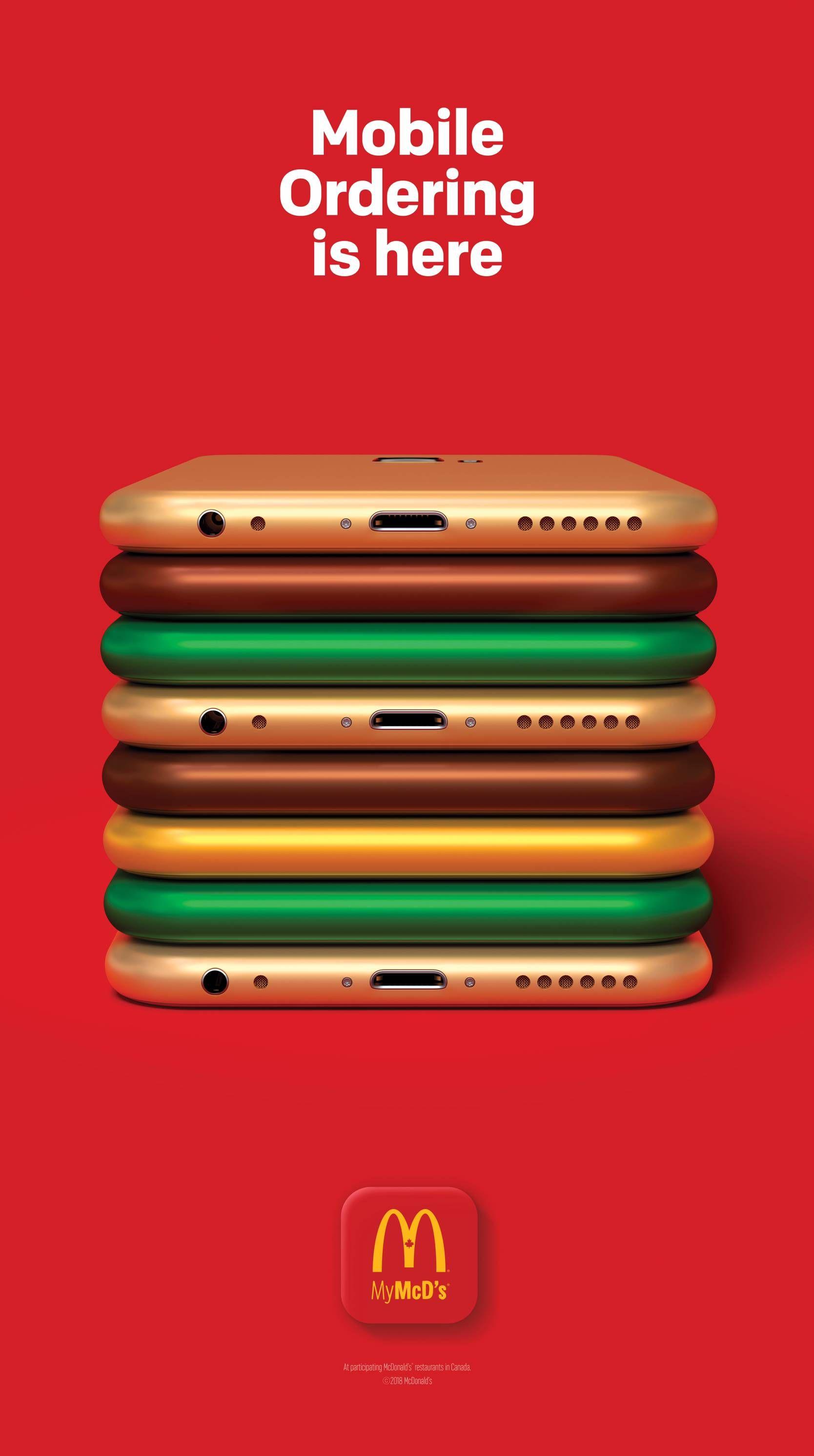 McDonalds: Mobile Ordering is here (4750x8500) #advertising #marketing #online #RT #busi… | Creative advertising campaign, Creative advertising design, Ads creative