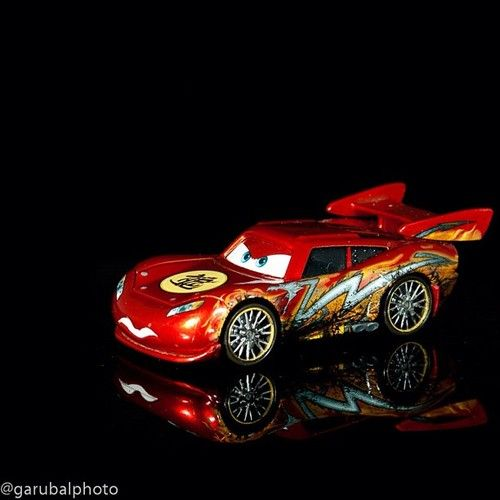 Dragon Lightning McQueen! He was driving them on the table