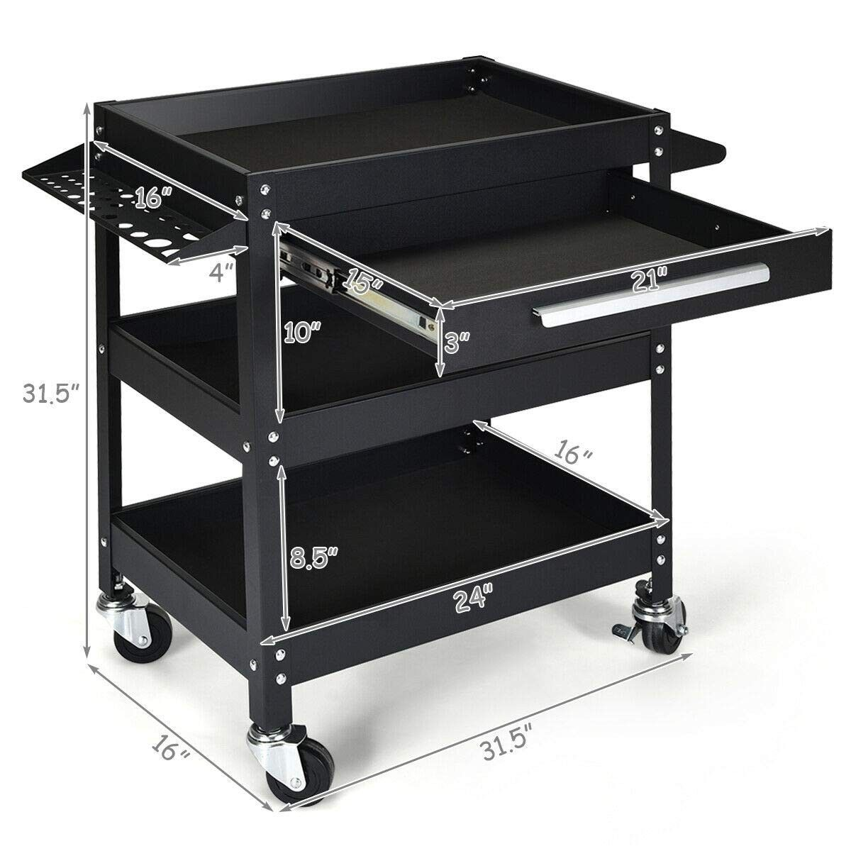 Rolling Tool Cart Mechanic Cabinet Storage Toolbox Organizer With Drawer Tool Box Organization Tool Cart Welding Table