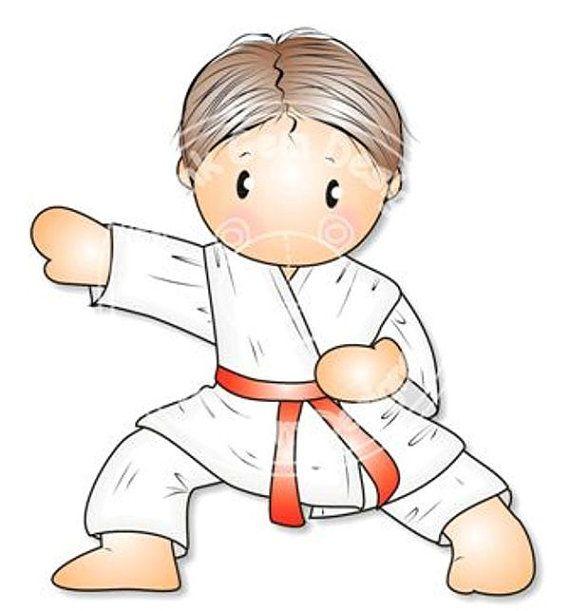 Digital Digi Karate Andy Stamp Boys Birthday by PinkGemDesigns