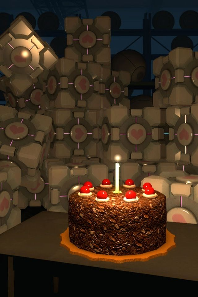 Tremendous Portal Cake Happy Birthday Your 1 Source For Video Games Personalised Birthday Cards Veneteletsinfo