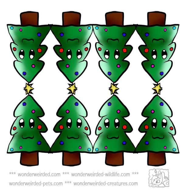 free christmas tree clipart xmas tree at wwwwonderweirdedcom free printable cartoon - Printable Christmas Trees