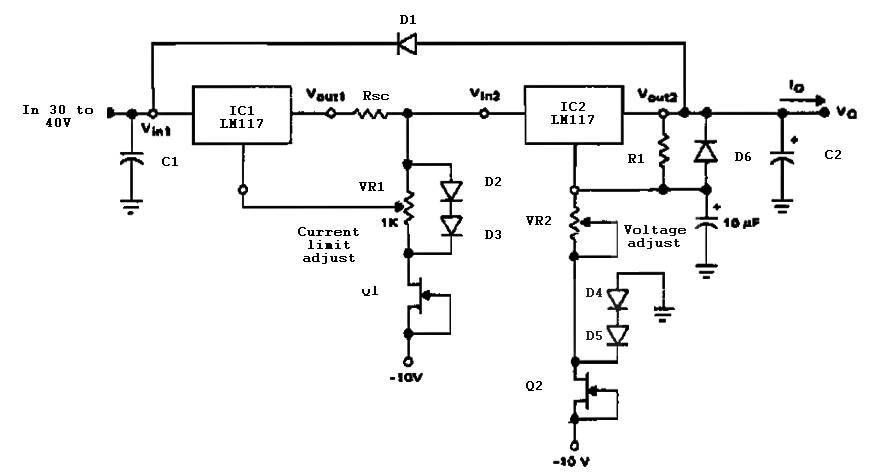 Variable Power Supply With Current Limit Power Supply Circuit Power Supply Variables