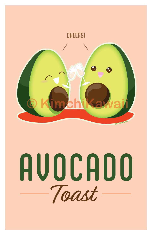 Cute Pun Avocado Toast By Kimchikawaii On Deviantart Cute Puns Cute Food Quotes Avocado Puns