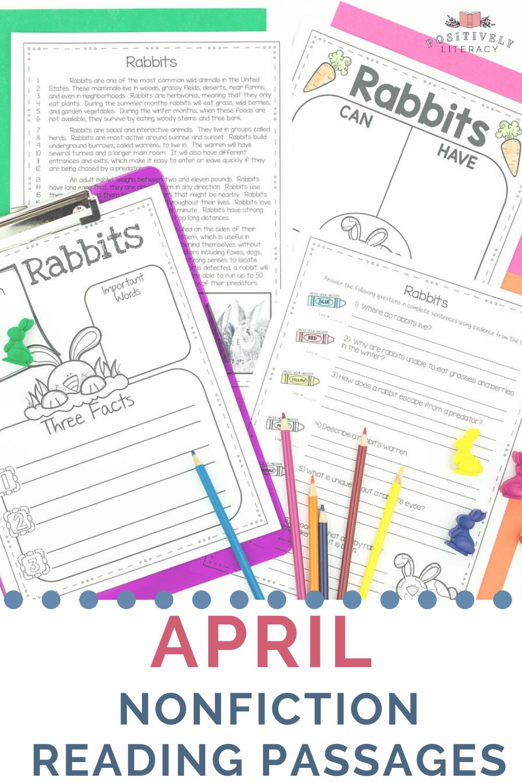 April Reading Passages Nonfiction Text Comprehension Activities Reading Passages Teaching Comprehension April Reading Passages [ 1500 x 1000 Pixel ]