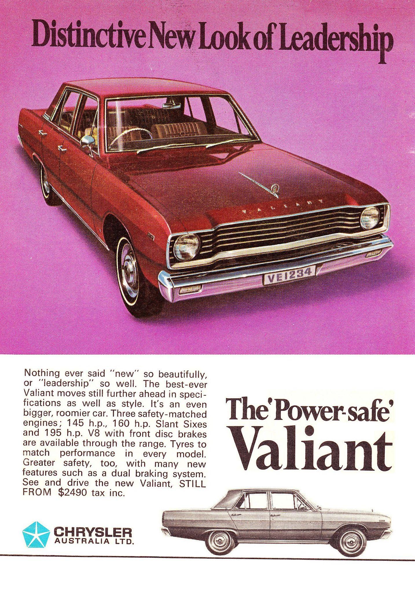 1968 VE Chrysler Valiant Sedan Aussie Original Magazine ...