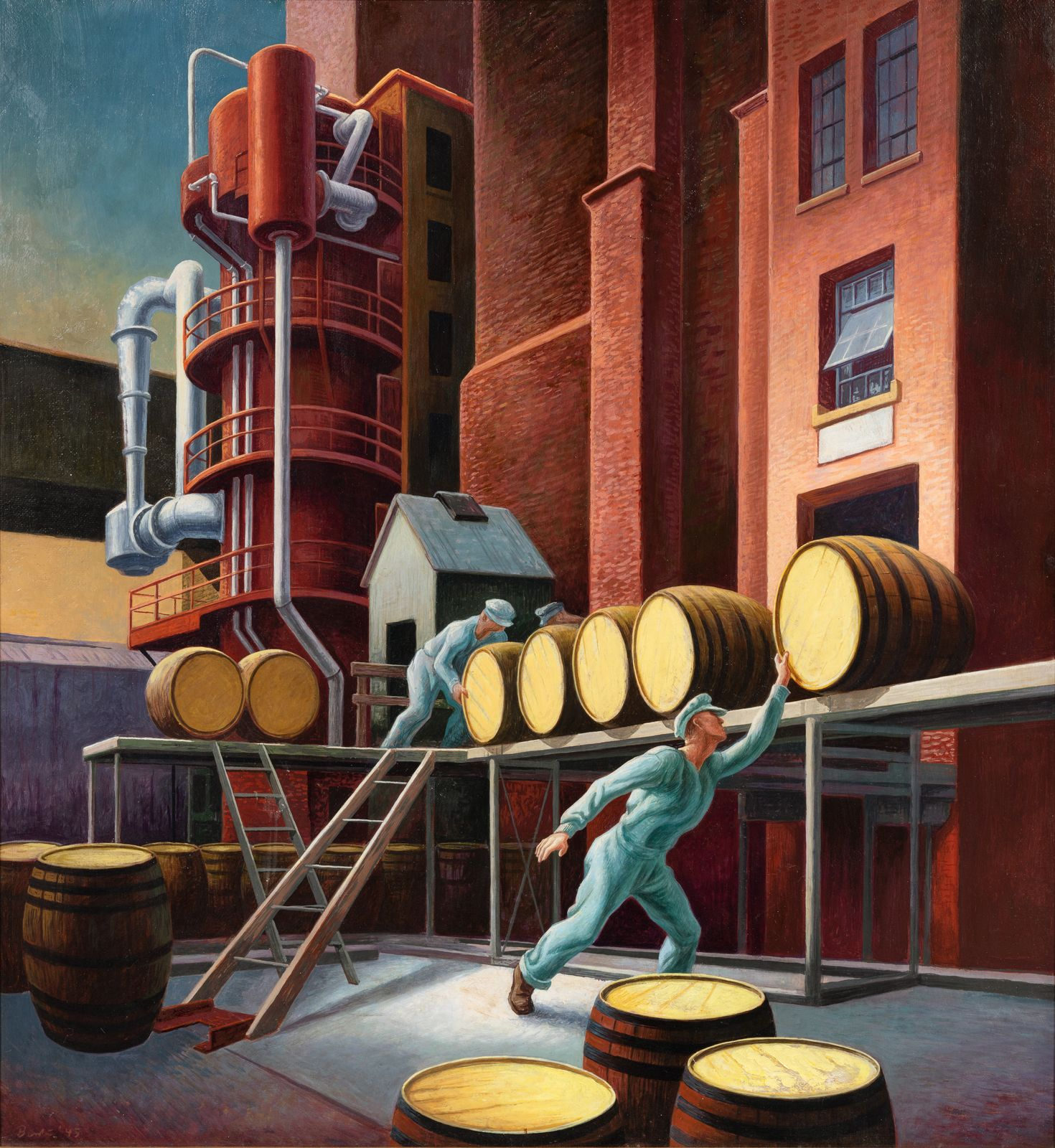 Whiskey Going Into The Rackhouse To Age Or Whiskey Barrels With