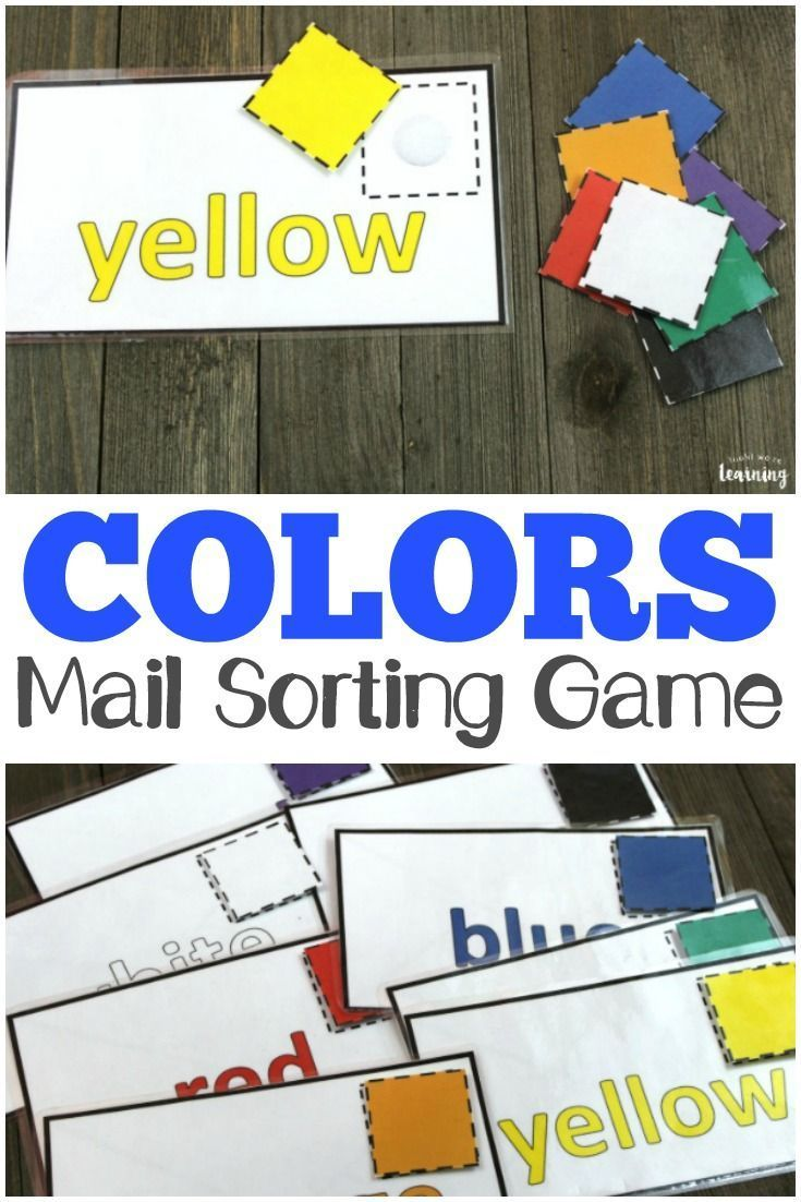 Multicolor Mail! Preschool Color Sorting Game - Toddlers Diy