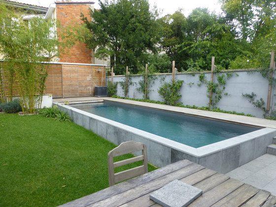piscines semi enterr es de piscines carr bleu architonic 5 pinterest swimming pools. Black Bedroom Furniture Sets. Home Design Ideas