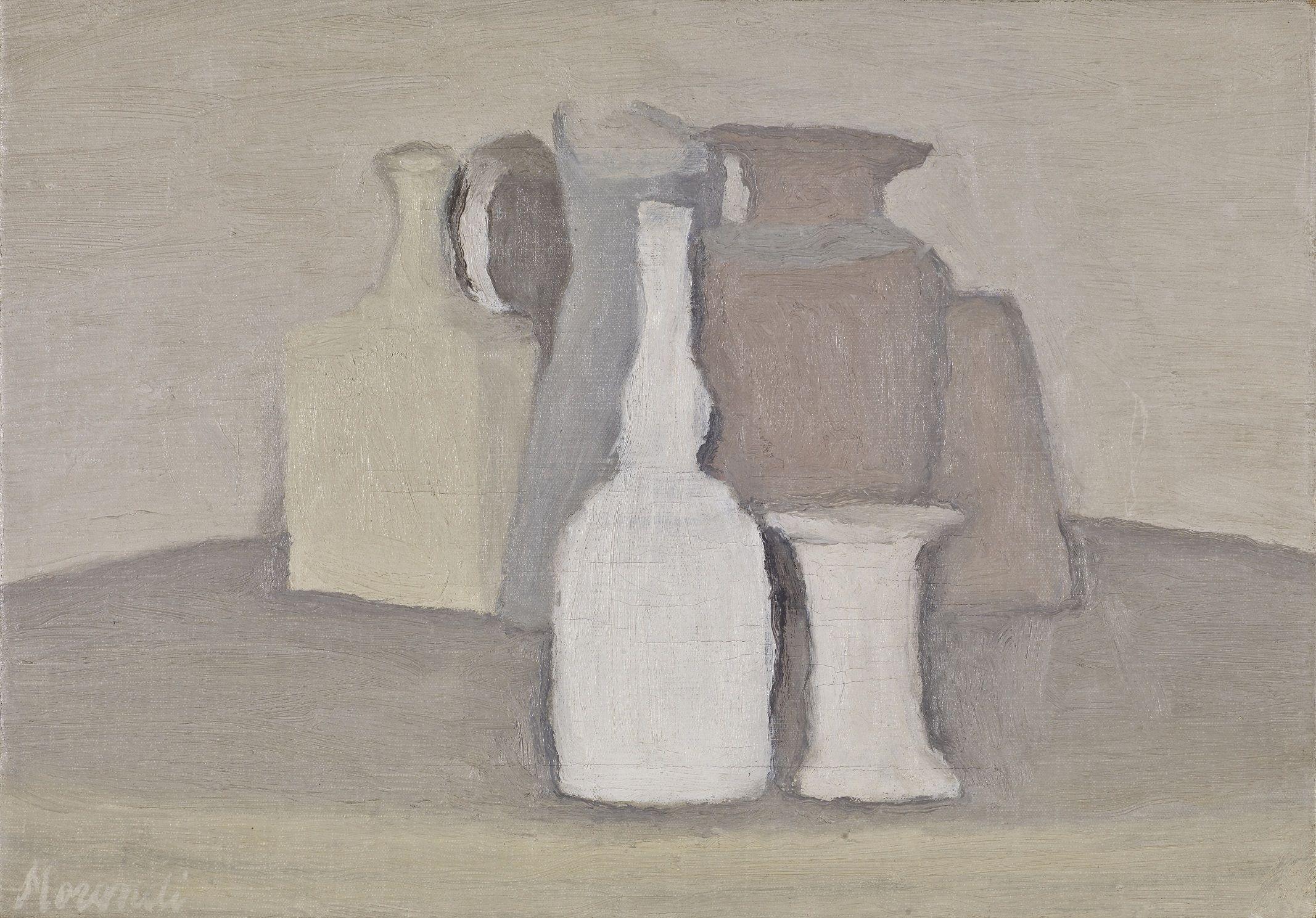 Morandi, Natura morta, 1947-48  Oil on canvas, 25.5 x 36 cm, 10 x 14.2 in.