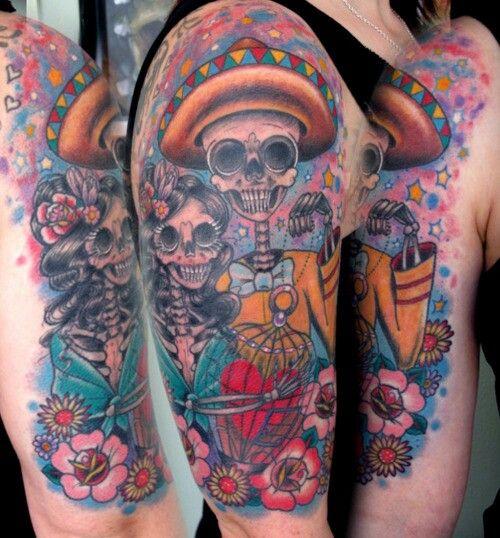Dia de los Muertos...tattoo idea   Artzy! :D   Pinterest   Tattoo ...