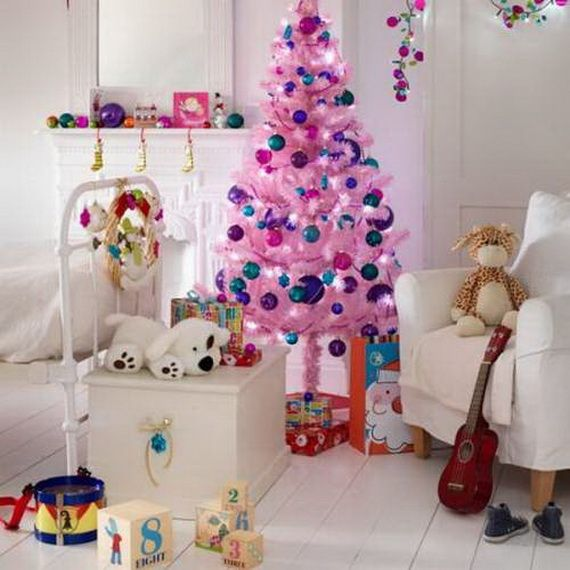 christmas decoration ideas for childrens bedrooms - Pink Christmas Decorations Ideas