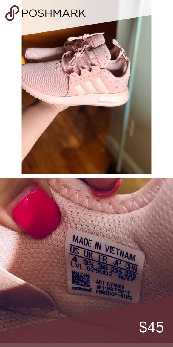 Pink adidas ortholite Size 4 in kids. I normally wear a size 7 in women s  and these fit me. Still in excellent condition I wore them maybe twice.  adidas ... cf818cf29