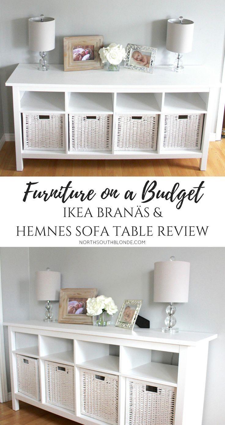 Ikea BRANÄS And Hemnes Sofa Table