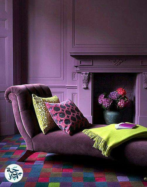 Pin By Aya Ahmed On Decoration Living Room Decor Colors Purple