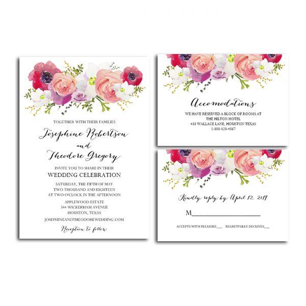 Free Printable Editable Pdf Wedding Invitation Suite Diy