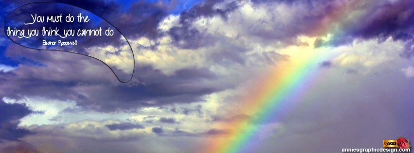 Pretty Rainbow Facebook Cover Area Pictures Fits Perfectly In The