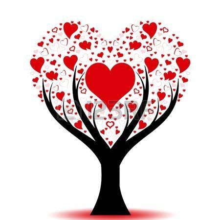 Beautiful Love Baum mit Herz Muster Lizenzfreie Bilder
