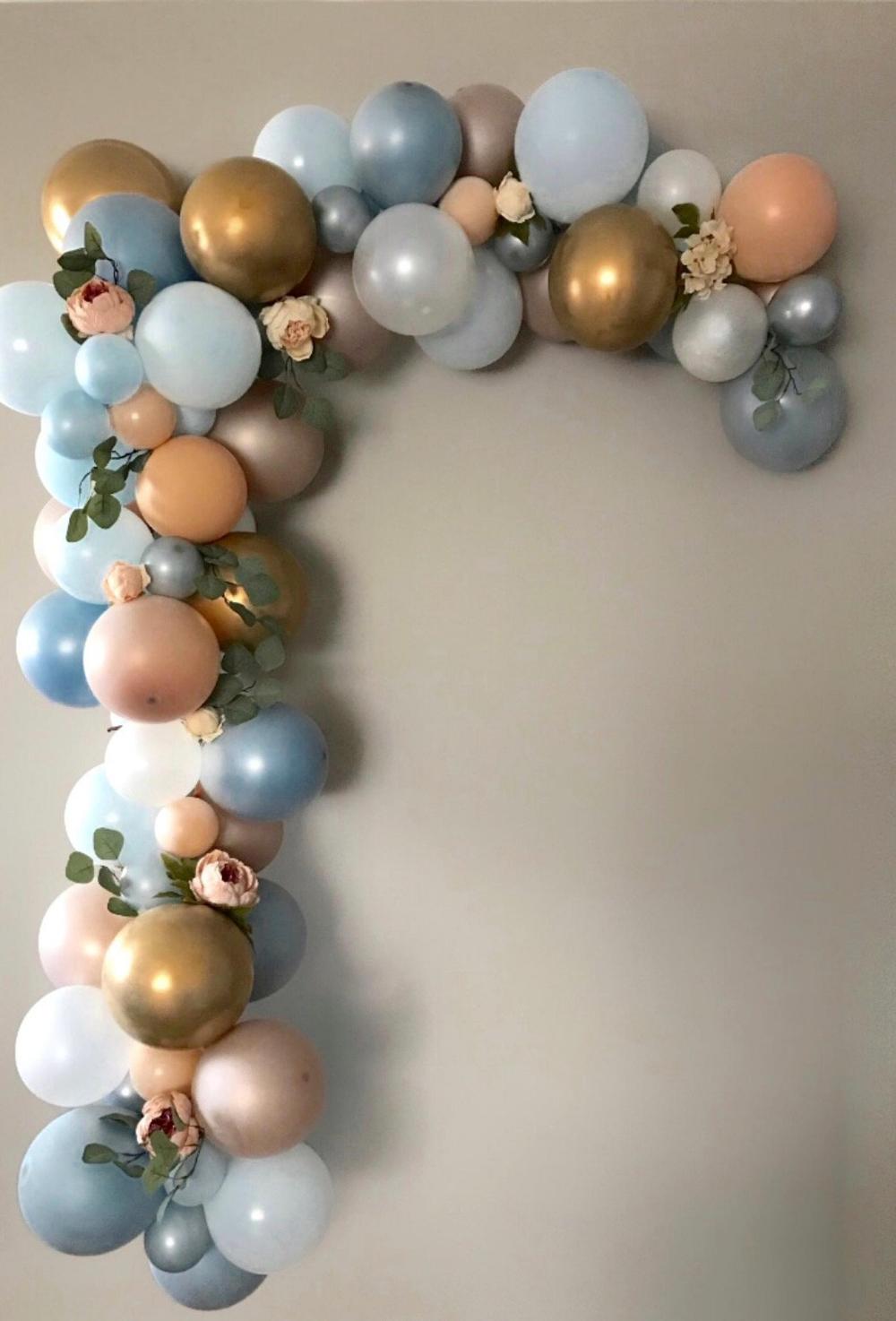 136 pcs Baby Shower Balloon Garland Kit-Shades of Blue-Little One-1st Birthday Balloon garland-Tassel Garland-Its a Boy #balloonarch