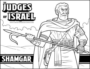 The Judges Of The Bible Shamgar Bible Coloring Pages Bible