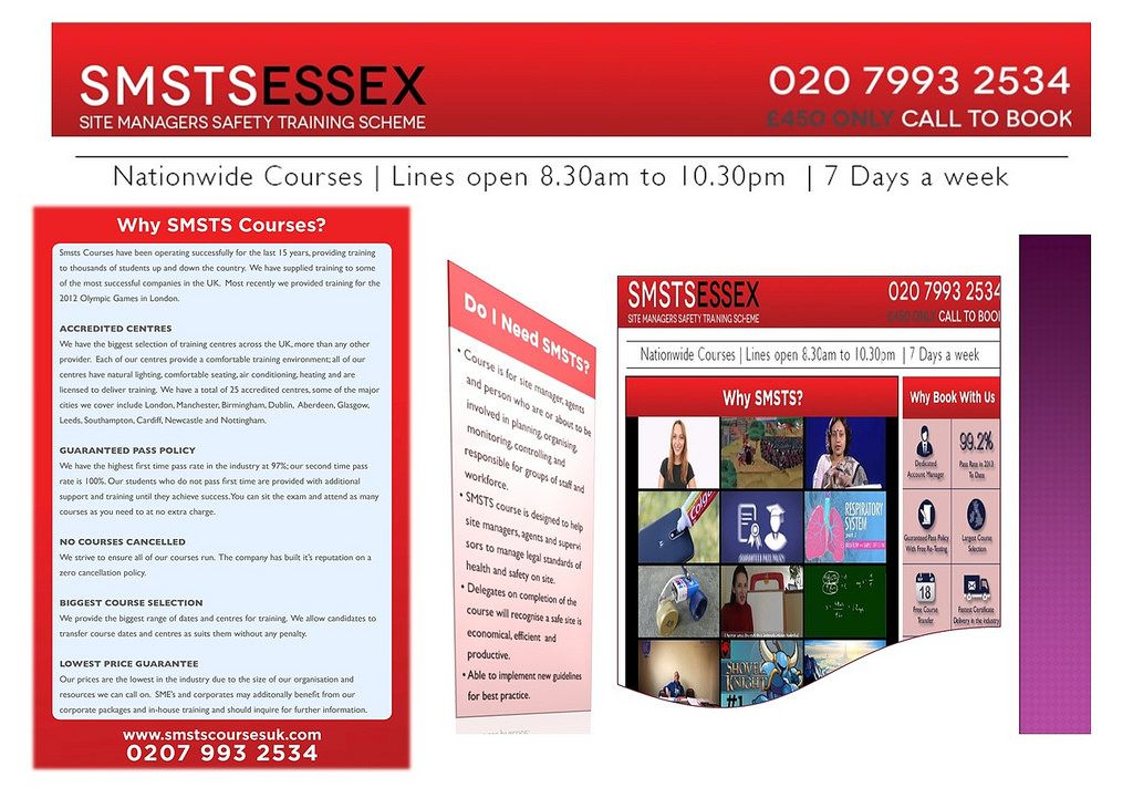 Essex SMSTS Course Centres, UK (With images) Colchester