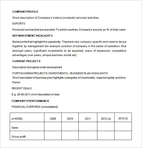 business proposal for investor template Investment Proposal - project proposal word template