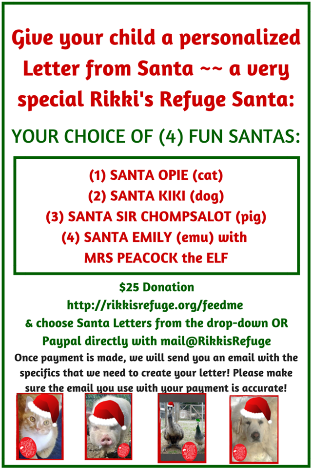 Choose From  Special Santas For A  Donation You Will Be