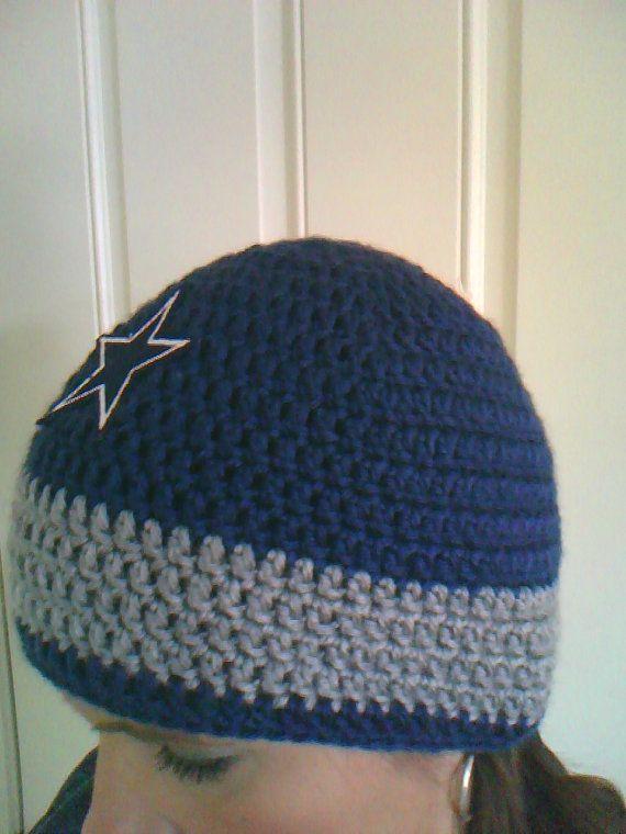 Dallas Cowboys Beanie Hat by YOCreations on Etsy | Crochet ...
