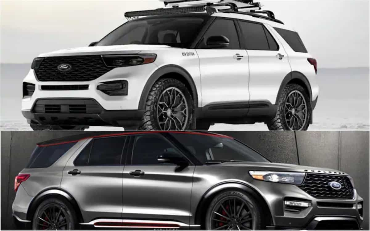Pair of Badass 2020 Ford Explorers with Aftermarket Parts