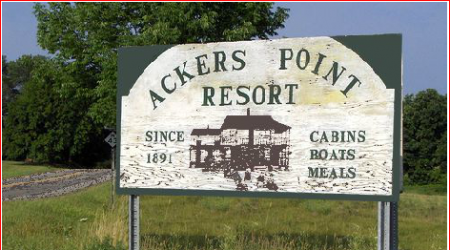 Open April through October Acker's Point Resort on ...