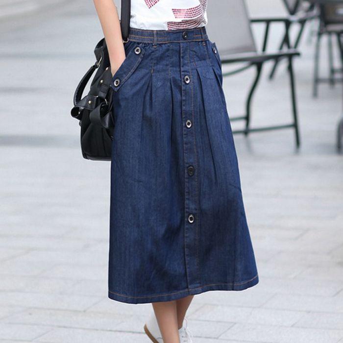 Faldas en estilo mahon | i love mezclilla | Pinterest | Beautiful ...