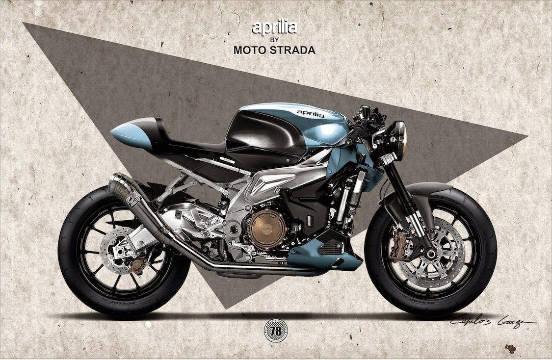 aprilia tuono cafe racer | cafes, motorbikes and custom bikes