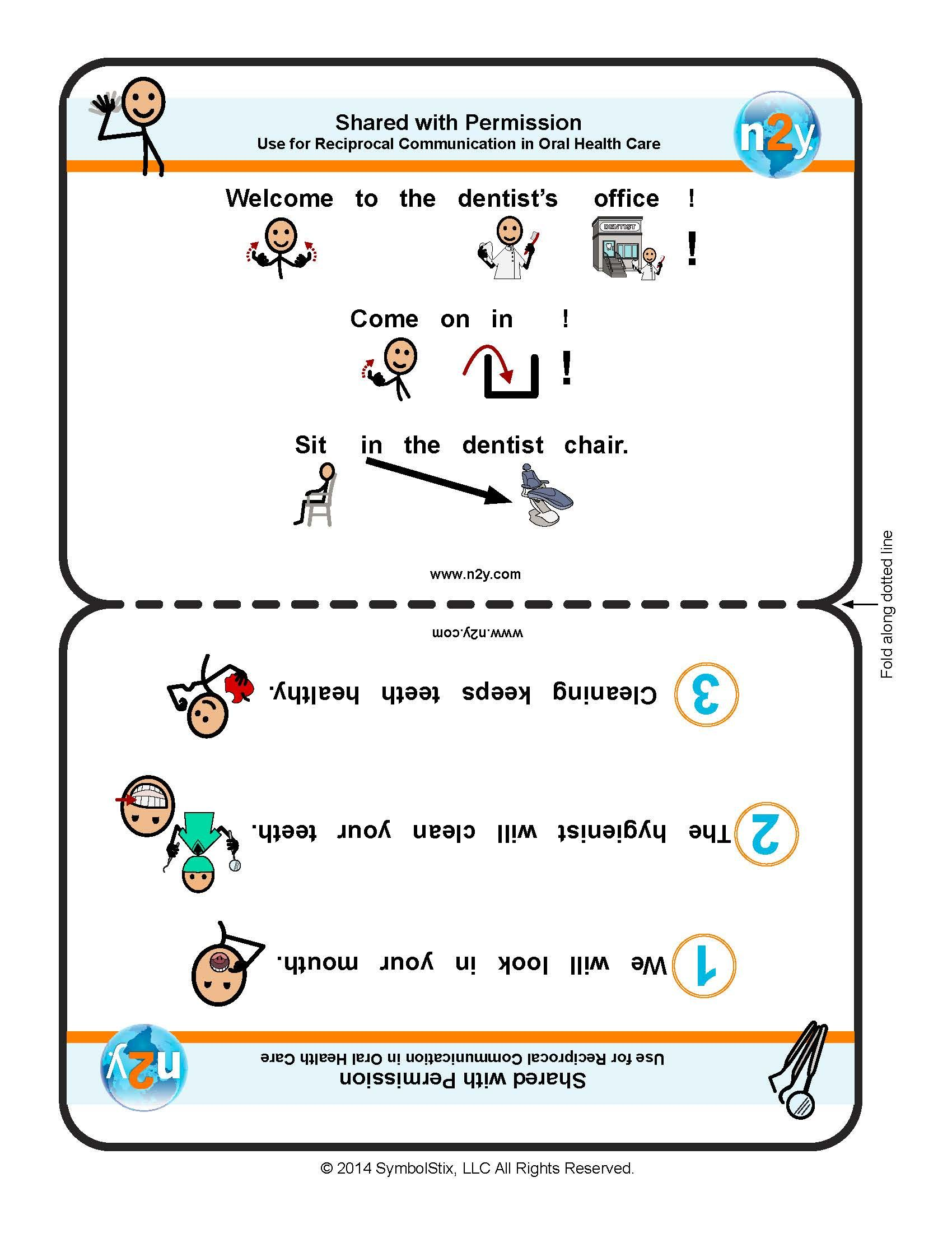 Dental Care Communication Foldable Half Sheets For Better