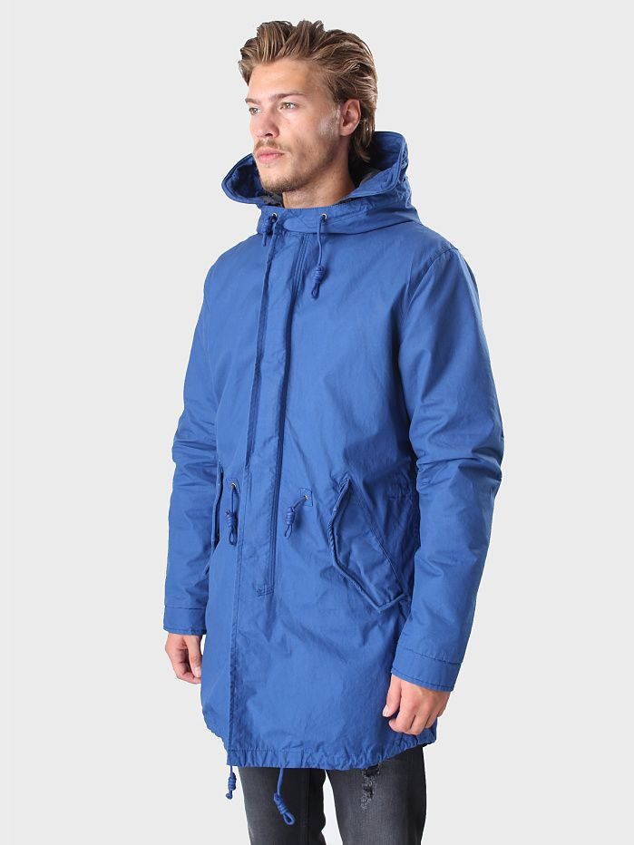 Selected Homme - 2in1 The Iconic Fishtail Parka Mazarine Blue ...