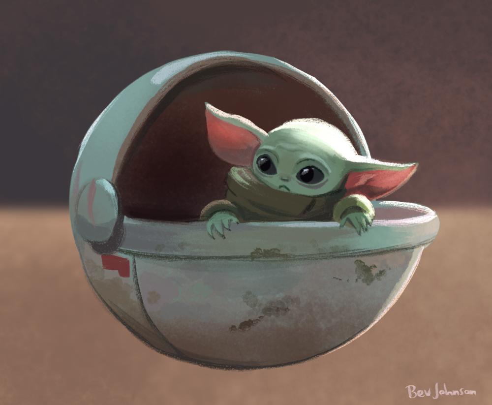 Bev Johnson Star Wars Art Yoda Art Star Wars Fan Art