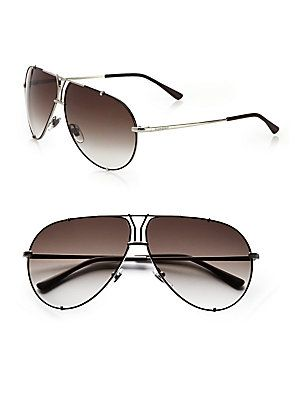 Yves Saint Laurent Logo Accented Metal Aviator Sunglasses Venda De Óculos  De Sol Ray Ban, 7cdbd53b2a