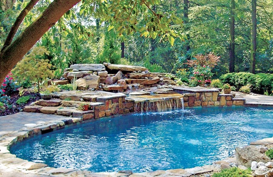 Pin by eddie eastwood on stunning pools with waterfalls swimming pool designs swimming pools - Luxury above ground pools ...