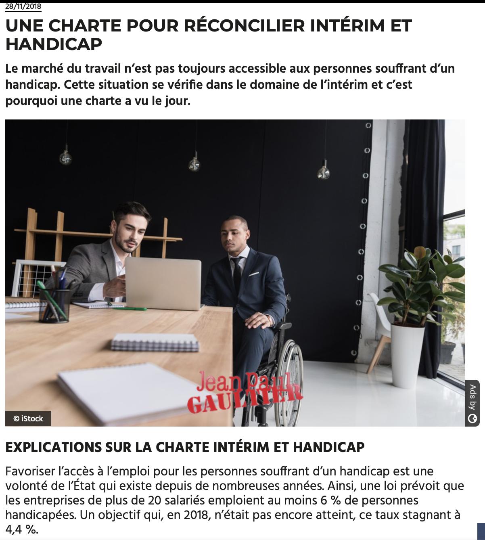 Interim Et Handicap Un Duo Gagnant Tout Comme Pour Un Travailleur Valide L Interim Peut S Averer Une Excellente Solution Pour Les Tr Handicap Interim Charte