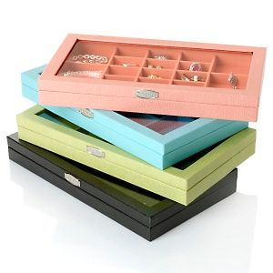 Hsn Jewelry Boxes Inspiration Colleen's Prestige™ Faux Snakeskin Stackable Large Jewelry Box At Design Inspiration