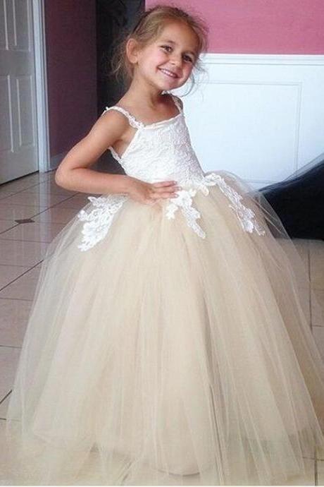 New Puffy Girl Formal Clothing Toddler Ball Gown Flower Girl Dresses ...