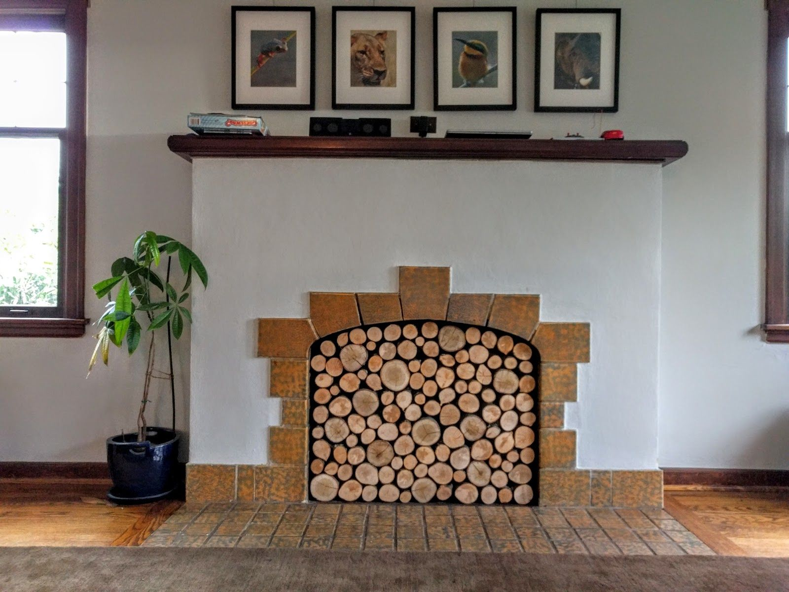 Chris And Sonja Living Space Decor Home Diy Faux Fireplace